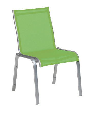 LUGANO Chaise silver/vert olive