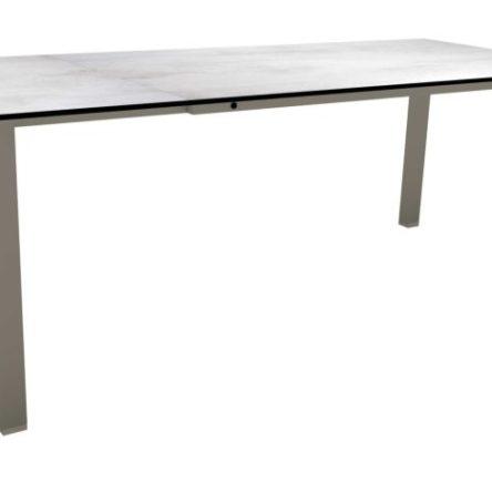 SILVERSTAR Table extensible 160/210x90cm taupe/sahara