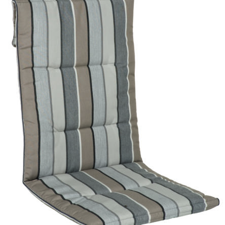 CALIFORNIA Coussin pour fauteuil multipositions col. gris/taupe rayé