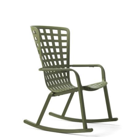 Promo Noël Rocking Chair Folio vert agave avec coussin col. fougère