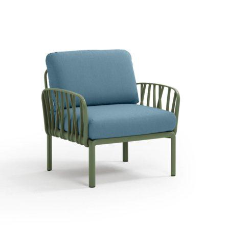 KOMODO  Lounge Sessel agave/adriatic blau