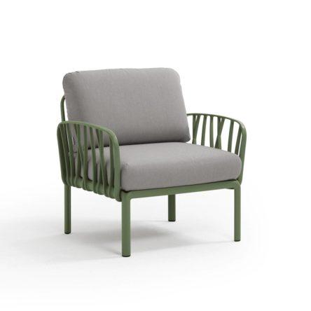 KOMODO Lounge Sessel agave/grau