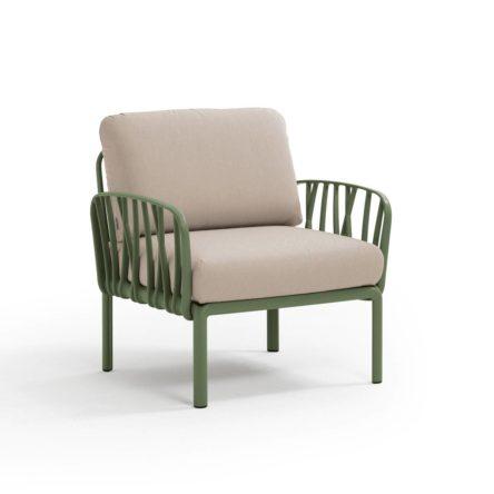 KOMODO   Lounge Sessel agave/ocker beige