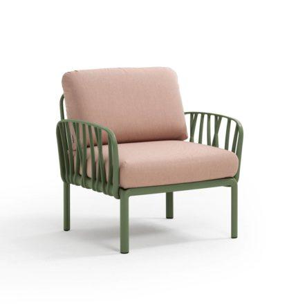KOMODO  Lounge Sessel agave/quartzrosa